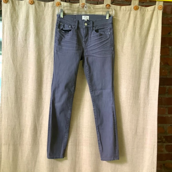 J Crew toothpick taupe gray jeans 25